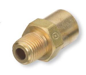 5/8-18 RH x 1/4 MNPT Welding Gas Fitting Argon Inert Gas, AW-15A