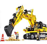 Building Blocks Excavator Machines Kids Figure Toys Gifts Model Collect 841PCS