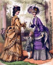 Edwardian Ladies dress and hat fashion art print A4 wall decor hangings