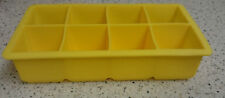 Ice Cube Trays - Giant 2 Inch Ice Cube Flexible Silicone Tray - Large - Yellow