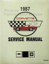 1987 Chevy Corvette Factory Service Manual Shop Repair Reprint