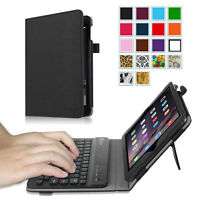 For Apple iPad mini 3 2 1 Folio Case Cover Stand w/ Wireless Bluetooth Keyboard