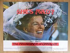 THE MADWOMAN OF CHAILLOT (1969) - original UK quad film poster,Katharine Hepburn