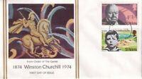 St HELENA 30 NOVEMBER 1974 WINSTON CHURCHILL CENTENARY FIRST DAY COVER