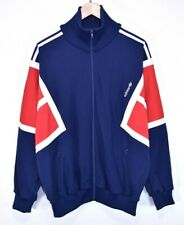 vtg 80s ADIDAS RARE RETRO TRACK JACKET TRACKSUIT TOP CASUALS HUNGARY size D8 XL