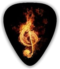 10  Flaming Treble ~GUITAR PICKS ~  *Printed Both Sides* Guitar Picks are Medium