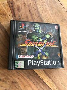 Soulblade - Playstation 1 - PS1 komplett OVP inkl. Anleitung CIB  FSK18