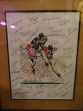 LeRoy Neiman original painting signed and dated to Dick McDonald Autographed