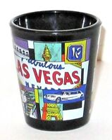Fabulous Las Vegas Shot Glass Black With The Highlights.
