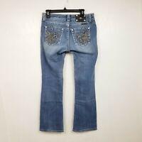 Miss Me Womens Jeans Tagged 29 Measures 31x30 Easy Boot Fleur De Lis Low Medium
