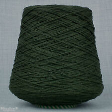 ITALIAN 4 PLY LAMBSWOOL  DARK MOSS GREEN - 500g CONE 10 BALLS SUPER QUALITY WOOL