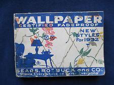 99 WALLPAPER SAMPLES FOR 1932 - Sample Wallpaper Book from Sears, Roebuck & Co.