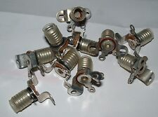 10 Bulgin metal  MES E10 screw in torch bulb Lamp-holder made in England