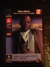 Star Wars Young Jedi TCG Jedi Council Mace Windu Senior Jedi Council Member MINT