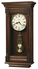 625-474 LEWISBURG HOWARD MILLER WALL CLOCK  WITH HARMONIC TRIPLE CHIMES  625474