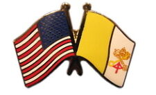 Vatican City Friendship with US Flag Lapel Pin