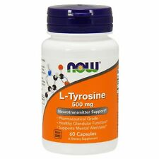Now Foods L-TYROSINE 500 mg, 60 capsules MENTAL, GLANDULAR & THYROID HEALTH