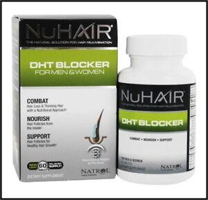NuHair DHT Blocker For Men & Women 60 Tablets Hair Loss and Rejuvenation Natrol