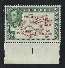 1942 Fiji Stanley Gibbons #256ba - 2½d KGVI Variety - Extra Island - MH
