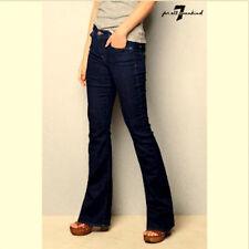 7 FOR ALL MANKIND Womens 28 x 34 BOOTCUT Jeans Mid Rise Dark Indigo Wash EUC