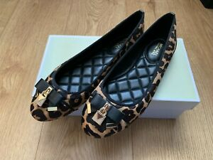 New Michael Kors Womens Leopard Print - Slip On Ballet Flats Shoes - (UK Size 4)