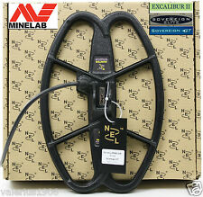 """New NEL HUNTER 12.5""""x8.5"""" DD coil for Minelab Sovereign/Excalibur + cover + bolt"""