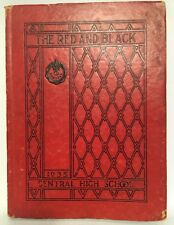 """1935 Yearbook Central High School St. Louis """"The Red And Black"""""""