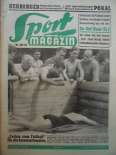 SPORT MAGAZIN KICKER 28A - 8.7. 1953 * Nationalelf in Wartaweil Pokal FC Basel