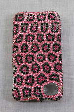 OLcell HADMADE PINK LEOPARD IPHONE 4 CASE COVER CZECH CRYSTAL NEW SWAROVSKI $149