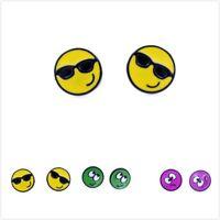 10mm petit mignon cadran boucles d'oreilles,3 à choisir,cool jaune,Smiley Vert,