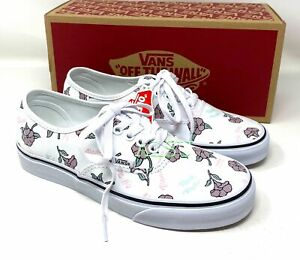 VANS Authentic Low Thank You Floral Canvas Women's Size Sneakers VN0A2Z5I19L