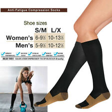 New Sock Anti-Fatigue Compression Double Varicose Vein Stocking Foot Protect UK