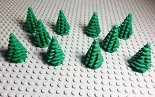 Lego New bulk  Small Green Pine Trees Lot Of X10 Pieces