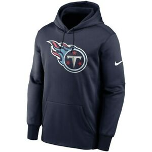 New 2021 NFL Tennessee Titans Nike Fan Gear Primary Logo Therma Pullover Hoodie