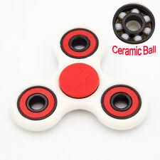 Red & White Fidget Hand Finger Spinner Ceramic Bearing EDC Gyro Toy Anti Stress