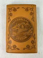 kapellbrucke Luzern  Lucerne Swiss Switzerland Europe Souvenir leather key case
