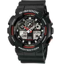 Casio G-Shock Analogue/Digital Mens Black XL-Series Watch GA-100-1A4DR
