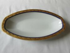 ROYAL LB BAVARIA #RYB8 18K GOLD BAND & COBALT RING OVAL RELISH TRAY