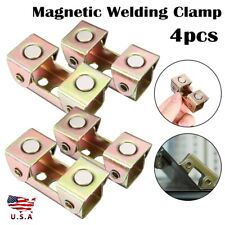 4Pcs V Type Magnetic Welding Clamps Holder Adjusted V Pad Suspender Fixture