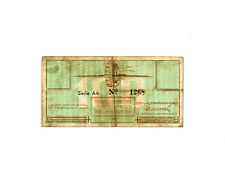 Netherlands WW2 Westerbork Concentration Camp 100 cent 1944 F -heavy fold, dirty