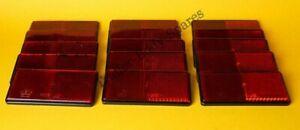 15 x Red Rear Reflectors 100mm x 50mm Self Adhesive - Trailer Horsebox
