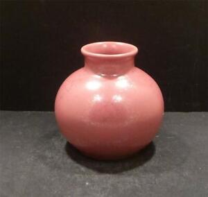 Vintage Mid Century Modern Poole Pink Pottery Vase - MINT- UNUSUAL
