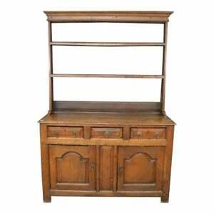 Antique Oak Country Welsh Dresser Server Sideboard