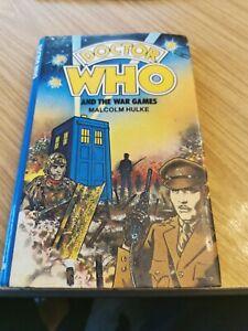 DOCTOR DR WHO W H ALLEN HARDBACK - THE WAR GAMES EX LIB