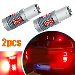 2x 1157 Red LED 3030SMD Bulbs Strobe Flash Blink Stop Brake Tail Light Universal