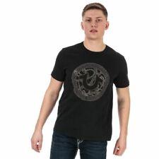 Men's True Religion Branded Logo Crew Neck Cotton T-Shirt in Black