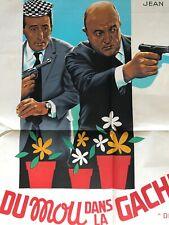 Affiche de cinéma de 1967, film DU MOU DANS LA GACHETTE, Blier, Lefebvre, 60x80