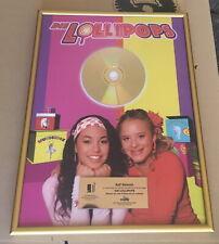Gold Award - goldene Schallplatte - Die Lollipops - Wünsch Dir was! Musikpreis
