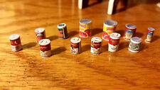 Kitchen Canned Food Pantry Items Soup Accessories 12pc Dollhouse 1:12 Miniature