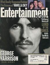GEORGE HARRISON Entertainment Weekly Magazine December 14, 2001 12/14/01 B-1-1